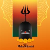 joyeux festival de maha shivratri backgrond avec shivling