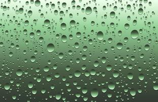 Realistic water drops on a plain glass, vector illustration