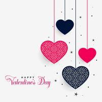 lovely hanging hearts of valentines day