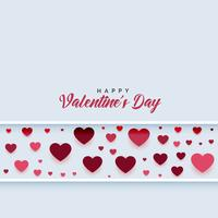 hearts linear pattern with text space