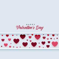 lineares Muster der Herzen mit Textraum
