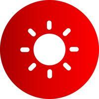 Icône de soleil vecteur