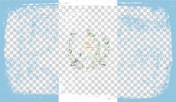Drapeau de style Grounge, illustration vectorielle