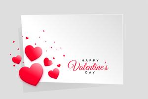 red hearts valentines day frame with text space