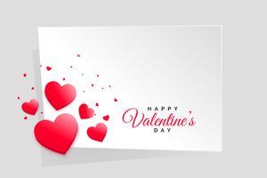 Marco de día de San Valentín corazones rojos con espacio de texto