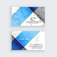 modern blue marble texture business card design