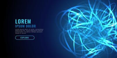 abstrakt blå kaos linjediagram teknik bakgrund