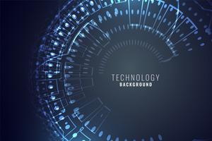 technology digital background with circular mesh circuit diagram