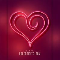 kreativ neon hjärtformad bakgrund