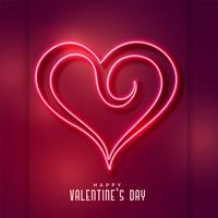 creative neon heart shape background