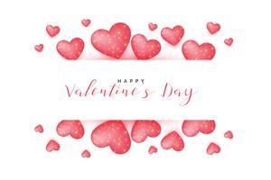 hermoso fondo de felicitación del día de San Valentín