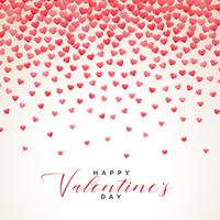 hearts rainfall valentines day background