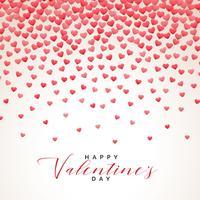 Fondo de día de San Valentín de lluvia de corazones