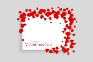 conception de cadre de beaux coeurs rouges Saint Valentin