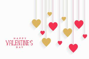hanging hearts background for valentines day