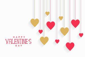 hängande hjärtan bakgrund för valentines dag