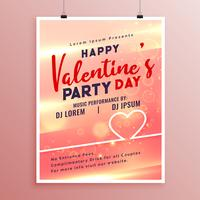 Happy Valentines Day Event Flyer Vorlage Design