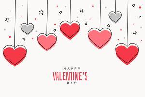 Fondo del día de San Valentín con corazones y estrellas