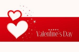 lycklig valentines dag hälsning hjärtan design