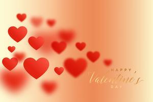 fantastiska oskärpa hjärtan härliga valentines dag bakgrund