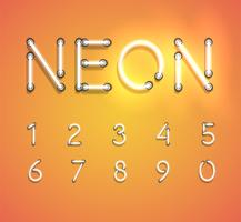 Realistic neon set, vector illustration