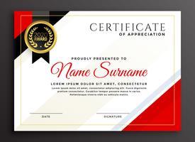diseño de plantilla de certificado de diploma elegante