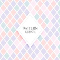 elegant diamond shape pattern in pastel colors