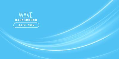 blue wavy shiny business background