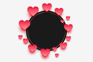 elegant hearts frame with text space