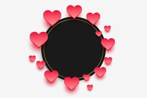 Marco de corazones elegantes con espacio de texto