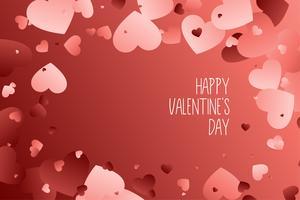 Fondo de corazones para el día de San Valentín