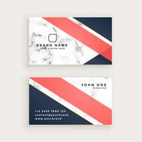 stylish marble texture business card design