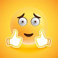 Emoticon mit den Daumen oben, vektorabbildung