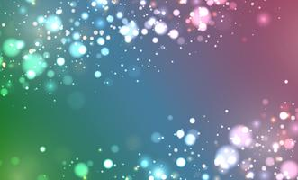 Colorful realistic glitter shines with bokeh, vector illustration