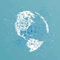 Stenad värld med förbindelser, vektor illustration