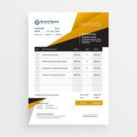 stylish business invoice template design
