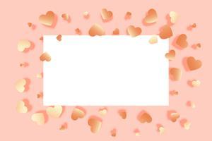Fondo hermoso corazones con espacio de texto