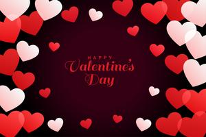 Fondo de corazones blancos y rojos para el día de San Valentín