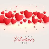 vackra hjärtan bakgrund för valentines dag