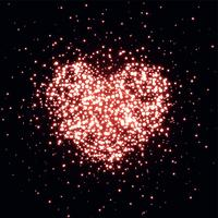coeur fait avec fond sparkle