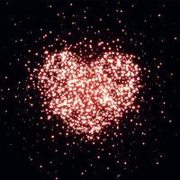 hart gemaakt met sparkle achtergrond