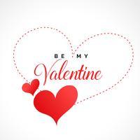 stylish valentines day hearts background