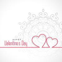 simple two line hearts shape valentines day background