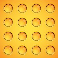 Yellow bubbles background, vector