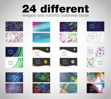 Business card set, vector templates