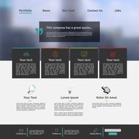 Modern website template for business, vector illustration