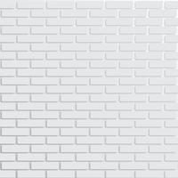 White brick wall, vector