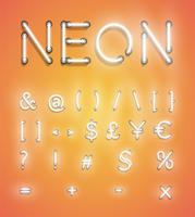 Realistic neon set, vector illustration