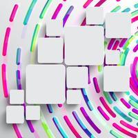 Forme arrondie avec ombre et fond de cercle coloré