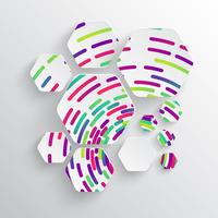 Forma arrotondata con ombra e sfondo colorato cerchio